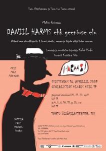 Affiche du spectacle 2009 Daniil Harms ou la vie d'un génie