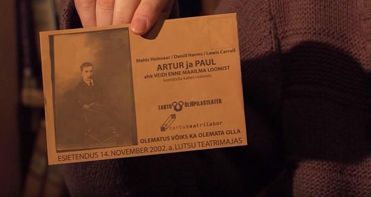"""Invitation """"Artur ja Paul"""" Mehis Heinsaar, 2002"""