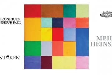 Tableau de Georges Meurant, 25x25cm, 2003 + éléments de couverture Kantoken
